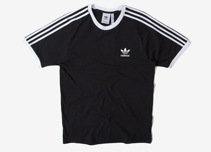 adidas Originals 3-Stripes T Shirt - Black/White