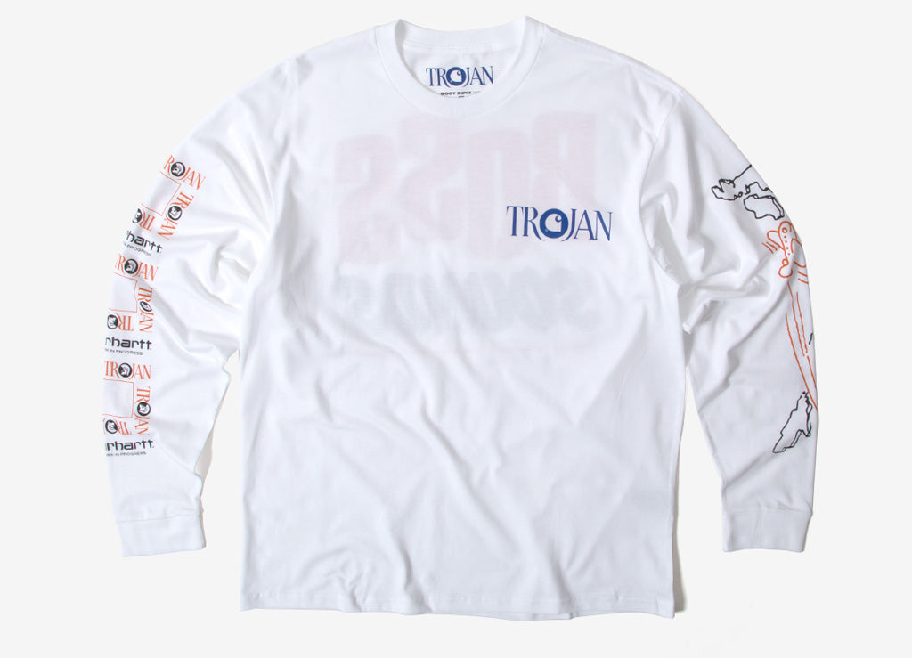 Carhartt x Trojan Boss Sounds LS T Shirt - White