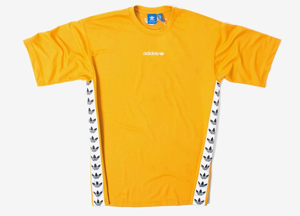 adidas Originals TNT Trefoil Tape T Shirt Tactile Yellow