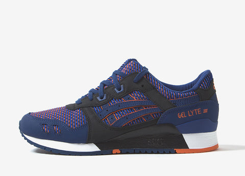 ASICS Gel Lyte III 'Chameleoid Mesh' Shoes - Blue Print/Orange
