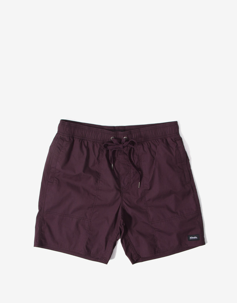 Afends Baywatch Classics Board Shorts - Mulberry