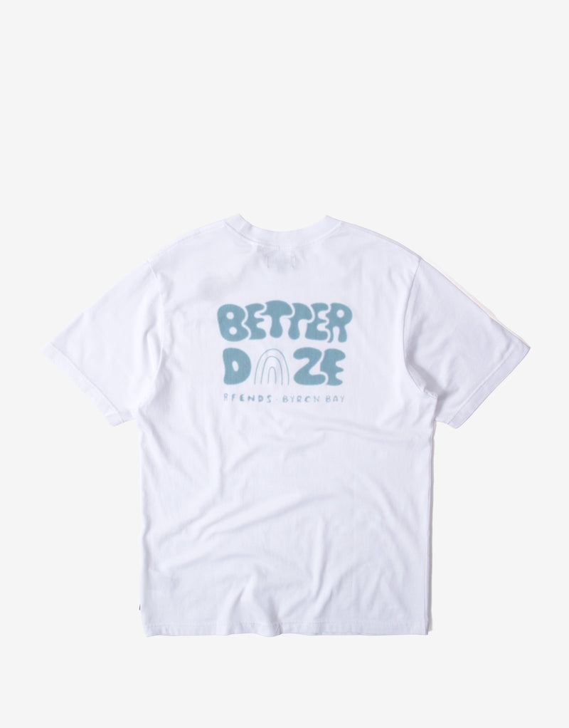 Afends Better Daze Retro Fit T Shirt - White
