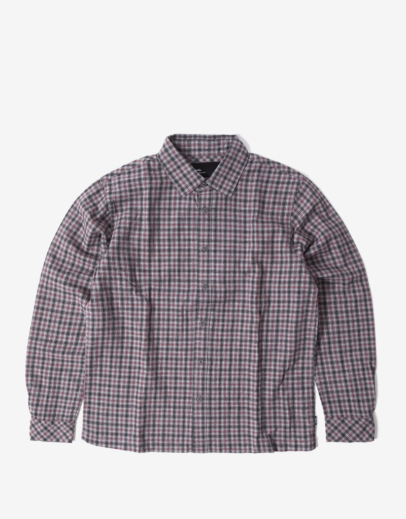 Afends Capital Hemp Check Long Sleeve Shirt - Drizzle