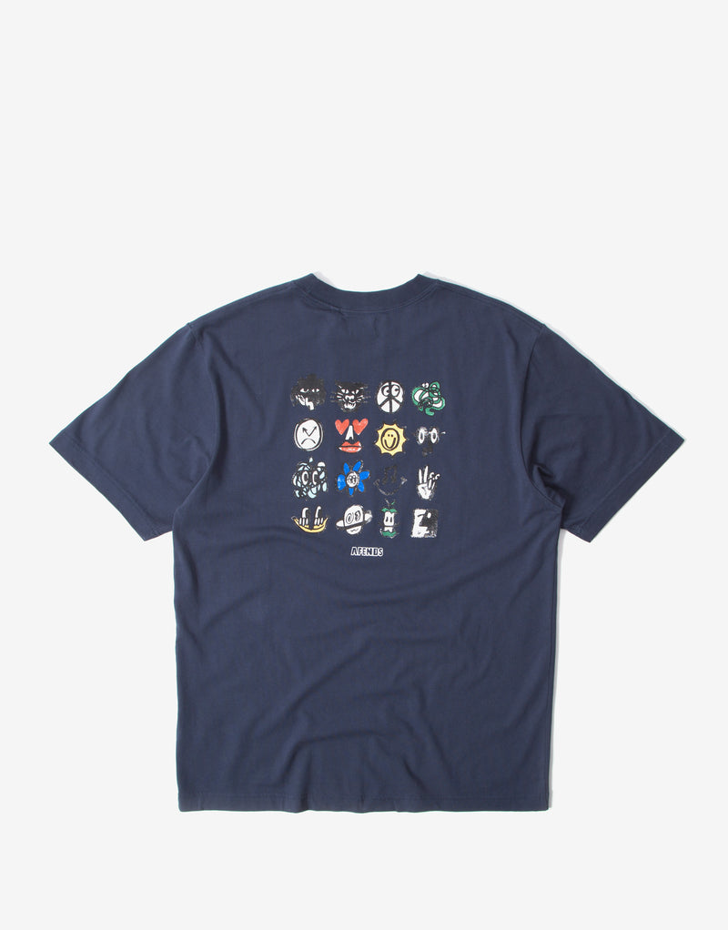 Afends Class of 89 Retro Fit T Shirt - Midnight