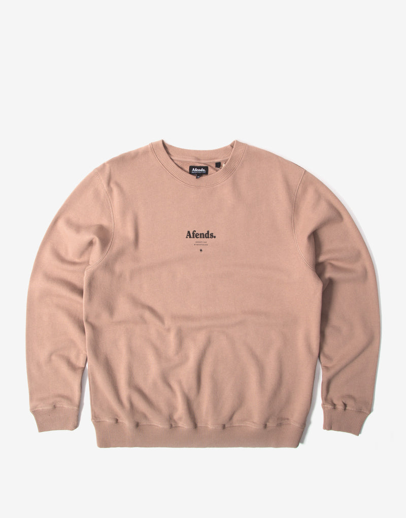 Afends Distorted Crewneck - Sand