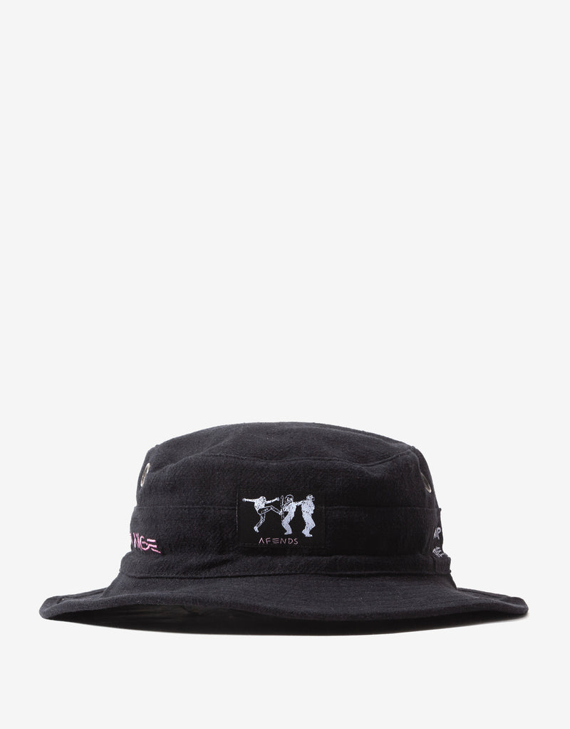 Afends Doom Hemp Bucket Hat - Black