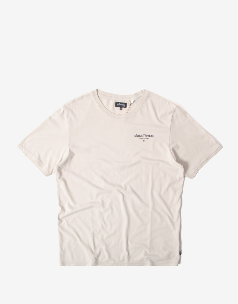 Afends Full Circle Standard Fit T Shirt - Moonbeam