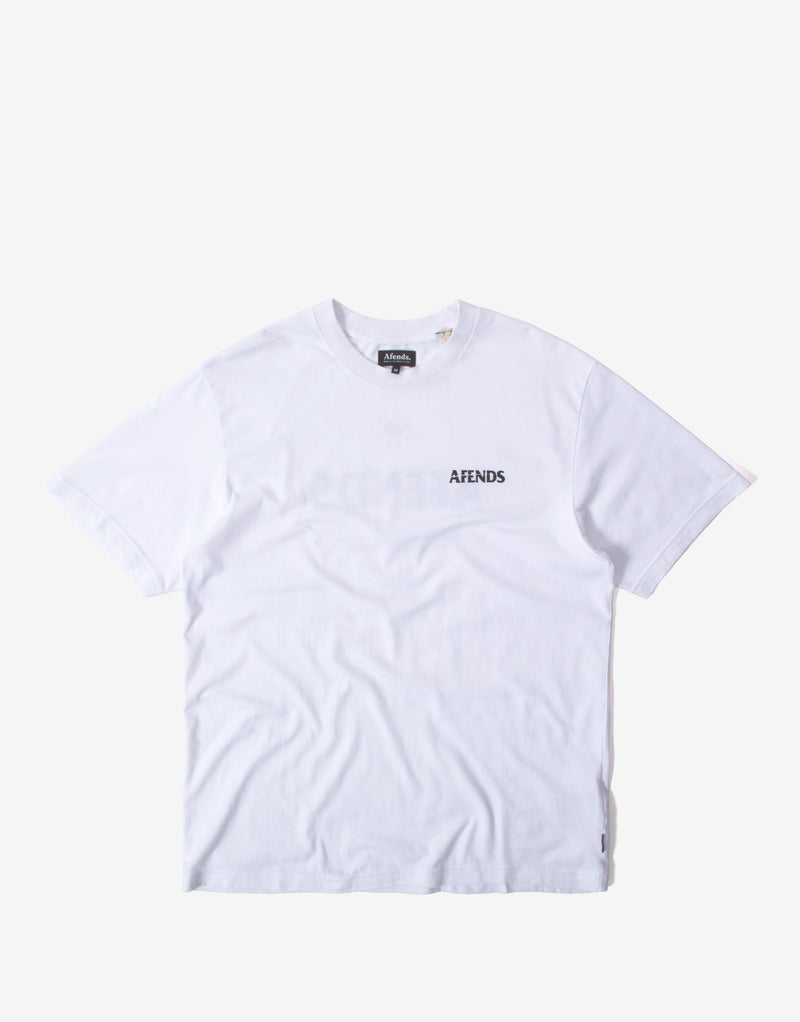 Afends No Tomorrow Retro Fit T Shirt - White