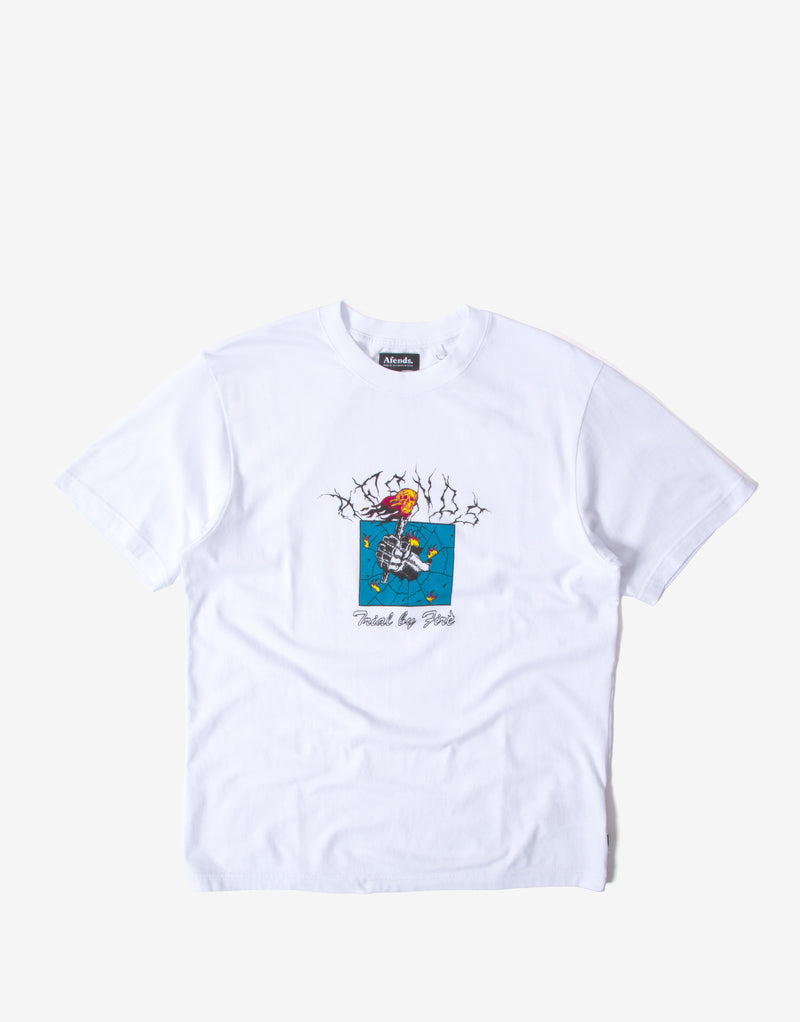 Afends Trial By Fire Retro Fit T Shirt - White