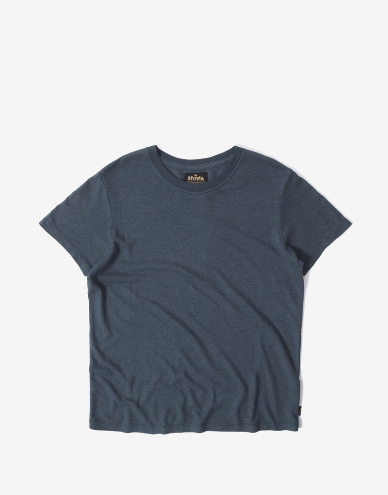 Afends Women's Hemp Basics Standard Fit T Shirt - Slate