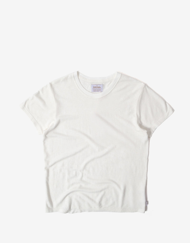 Afends Women's Hemp Basics Standard Fit T Shirt - White
