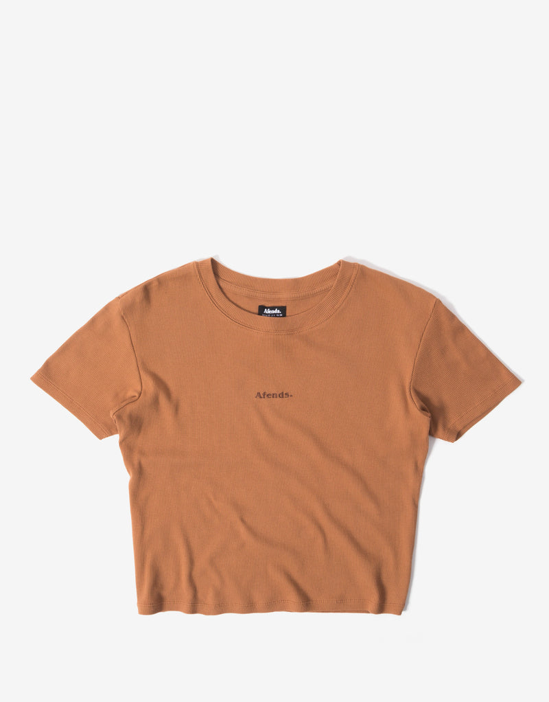 Afends Women's Juliette Rib T Shirt - Clay