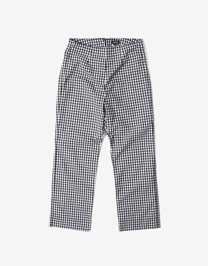 Afends Women's Ryder Gingham High Waist Pant - Black/White