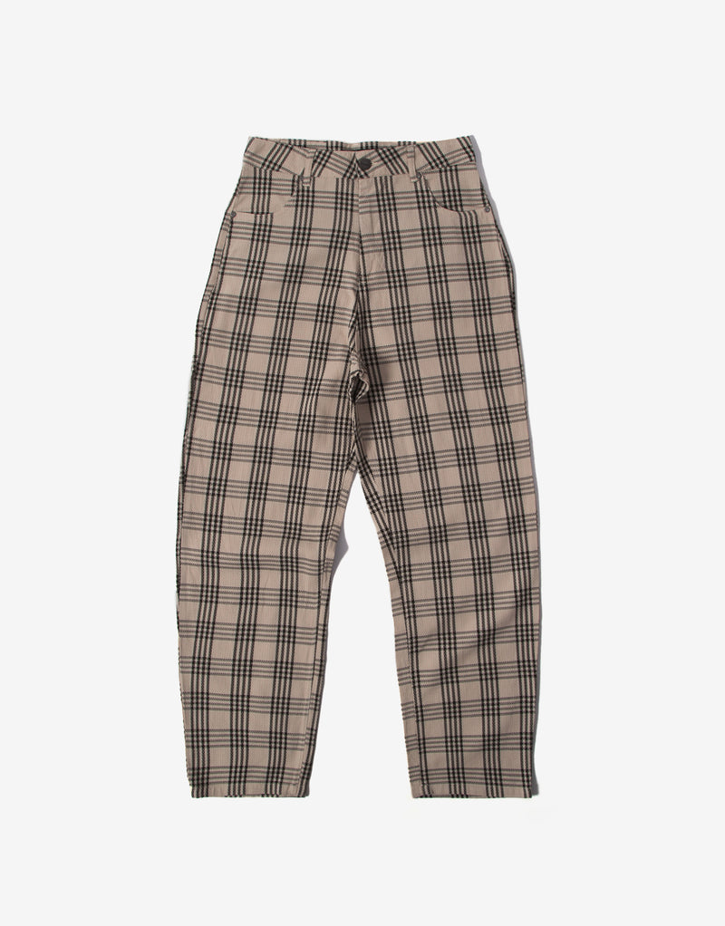 Afends Women's Shelby Starfield Check Pant - Bone/Black