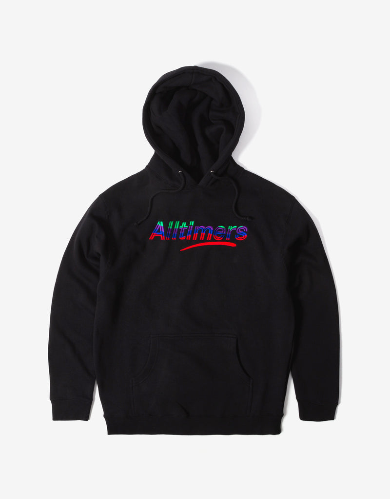 Alltimers Embroidered Wave Estate Hoody - Black