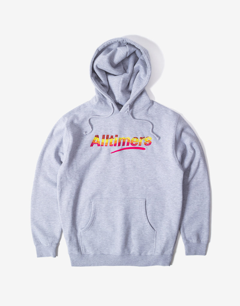 Alltimers Embroidered Wave Estate Hoody - Heather Grey