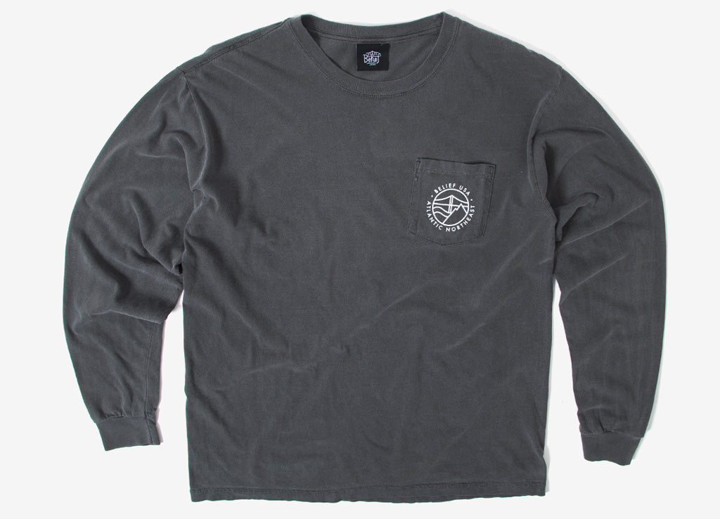 Belief Atlantic Long Sleeve T Shirt - Pepper