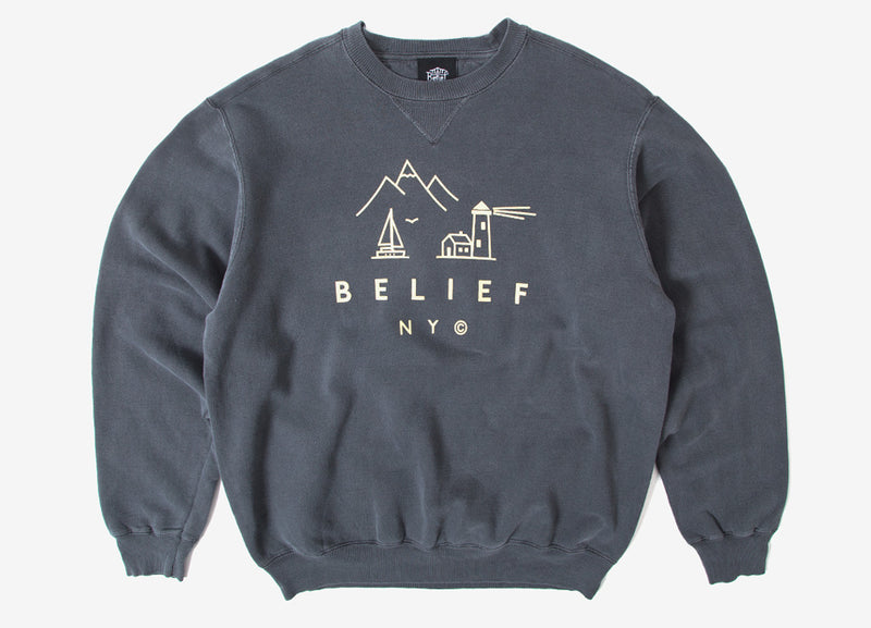 Belief Country Crewneck Sweatshirt - Coal