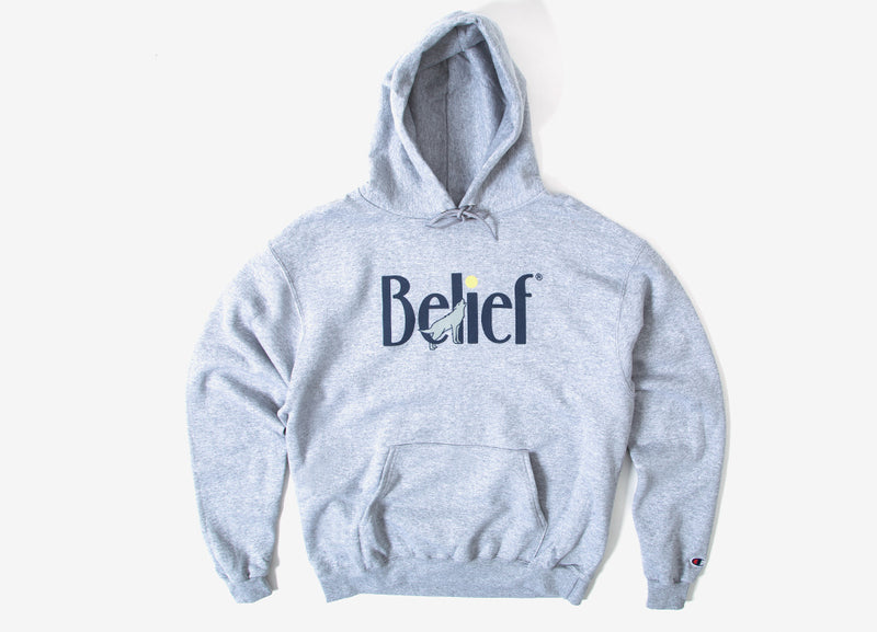 Belief Midnight Champion Pullover Hoody - Steel Grey