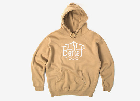 Belief Triboro Embroidered Pullover Hoody - Sandstone