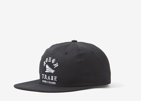 Born X Raised Uncut 6 Panel Cap - Black