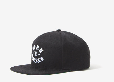 Born X Raised Rocker Snapback Cap - Black