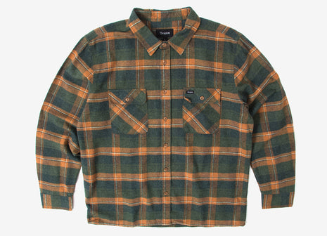 Brixton Archie Flannel Shirt - Green Plaid