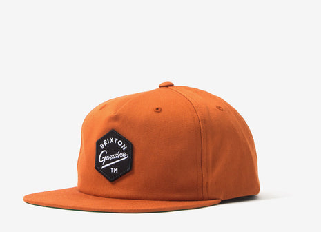 Brixton Yates Snapback Cap - Burnt Orange