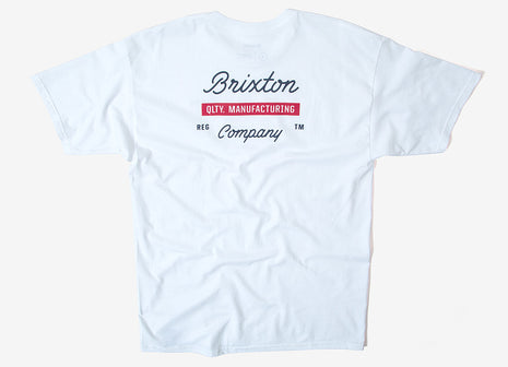 Brixton Dwell T Shirt - White