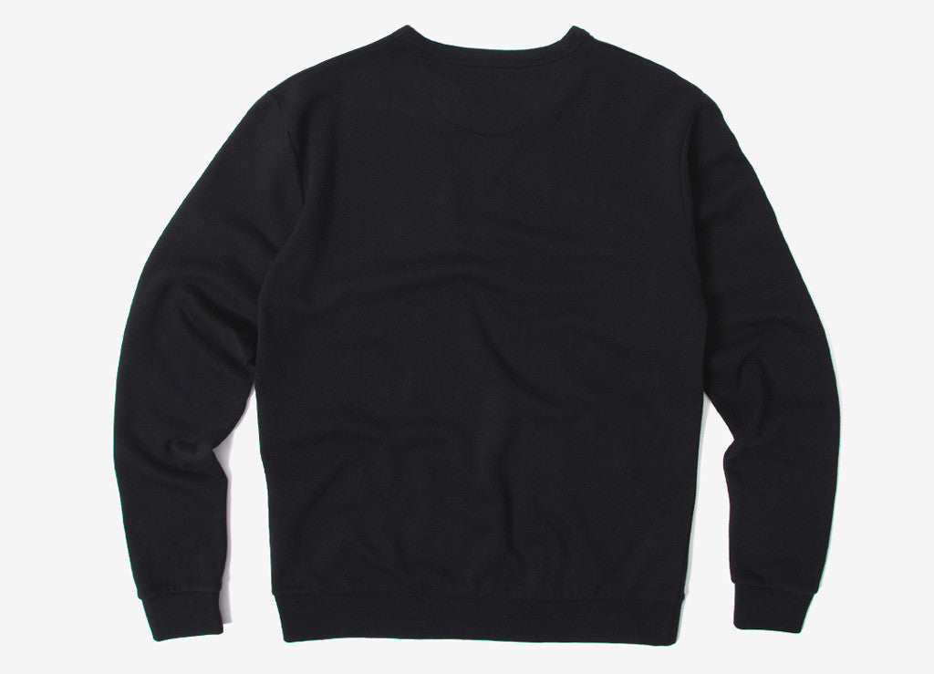 Brixton Gasket Crew Fleece Sweatshirt - Black