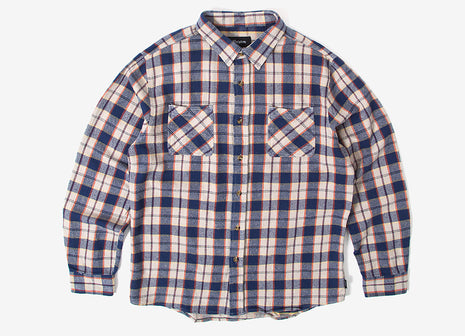 Brixton Hoffman Flannel Shirt - Blue/Grey
