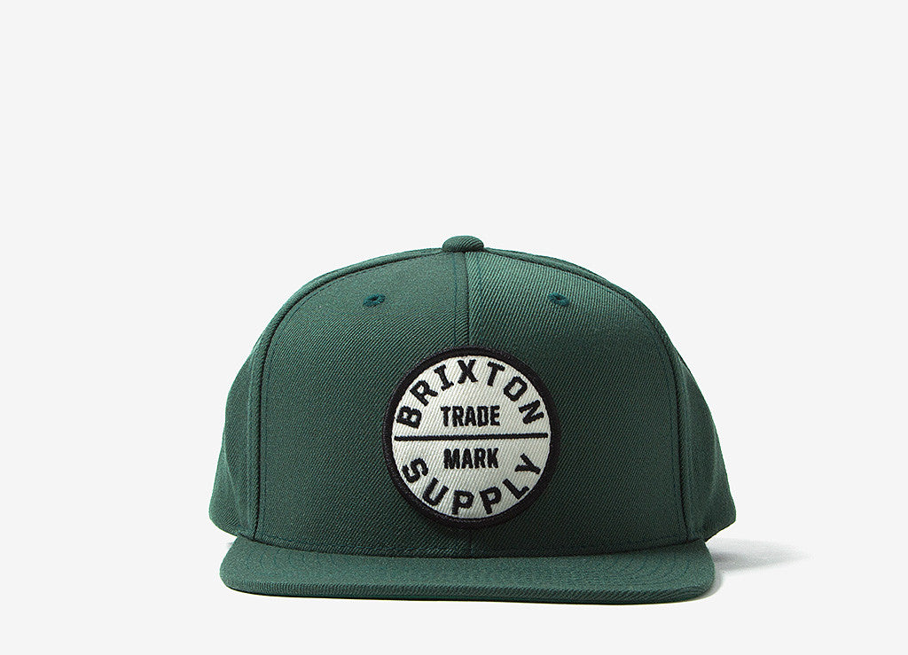 3d6de1dbb810a Brixton Oath III Snapback Cap Chive at The Chimp Store