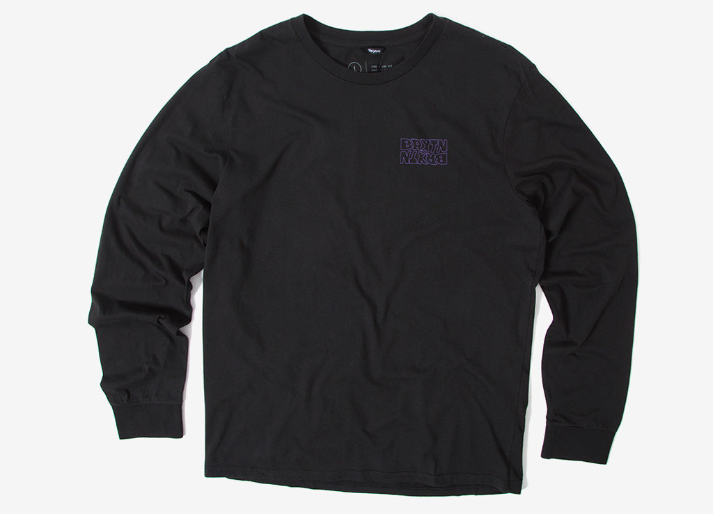 Brixton Vitus Long Sleeve T Shirt - Black