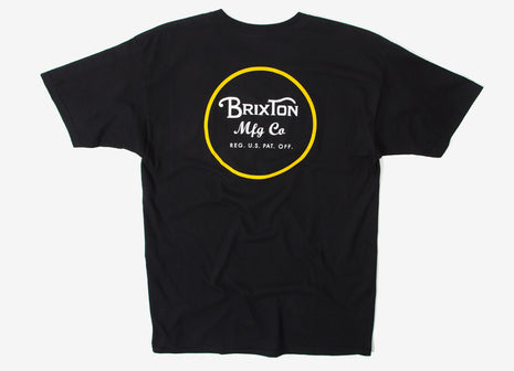Brixton Wheeler II T Shirt - Black/Yellow