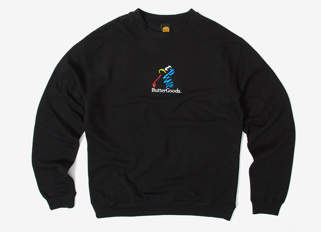 Butter Goods Golf Crewneck Sweatshirt - Black