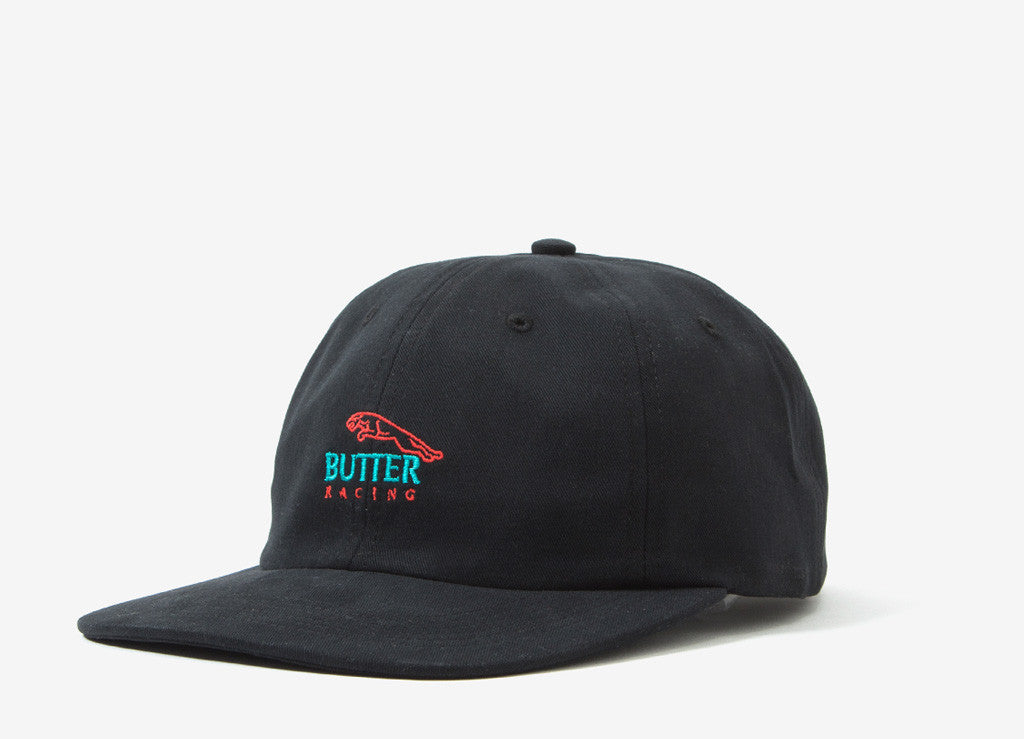 Butter Goods Racing 6 Panel Polo Cap - Black