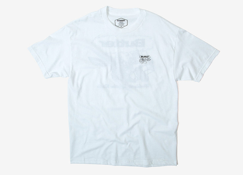 Butter Goods Radio T Shirt - Powder White