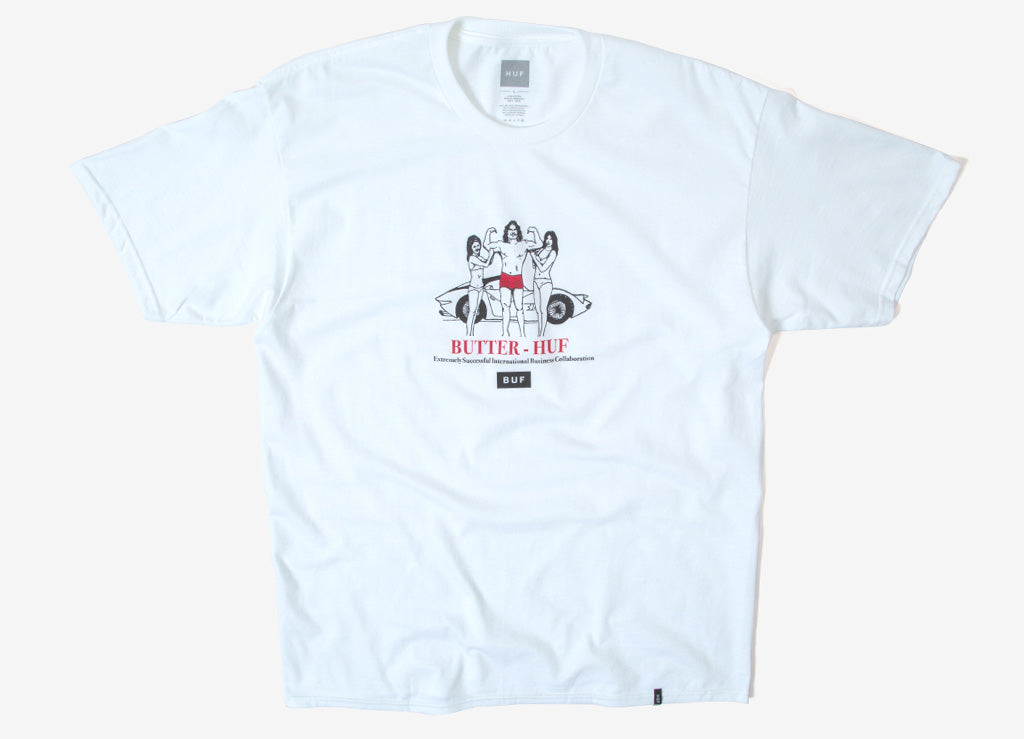 HUF x Butter Goods BUF T Shirt - White