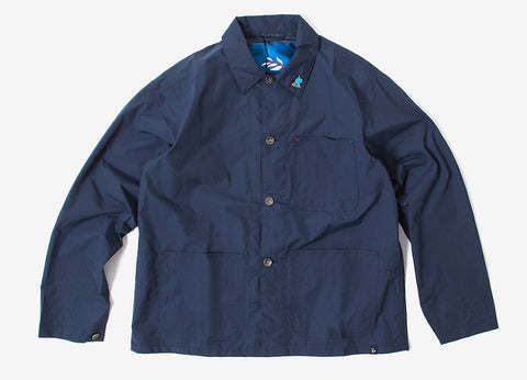 By Parra Nylon Worker Shirt - Navy Blue