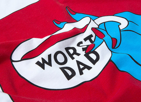 By Parra Club Worst Dad T Shirt - White