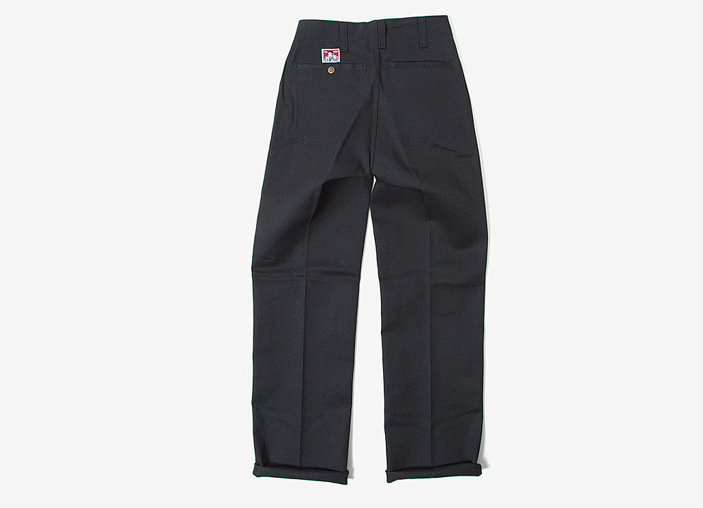 Ben Davis Trim Fit Workpant Trousers - Black