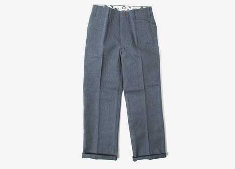 Ben Davis Trim Fit Workpant Trousers - Charcoal Heather