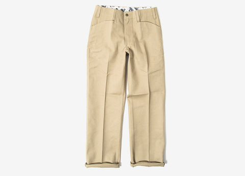 Ben Davis Trim Fit Workpant Trousers - Khaki