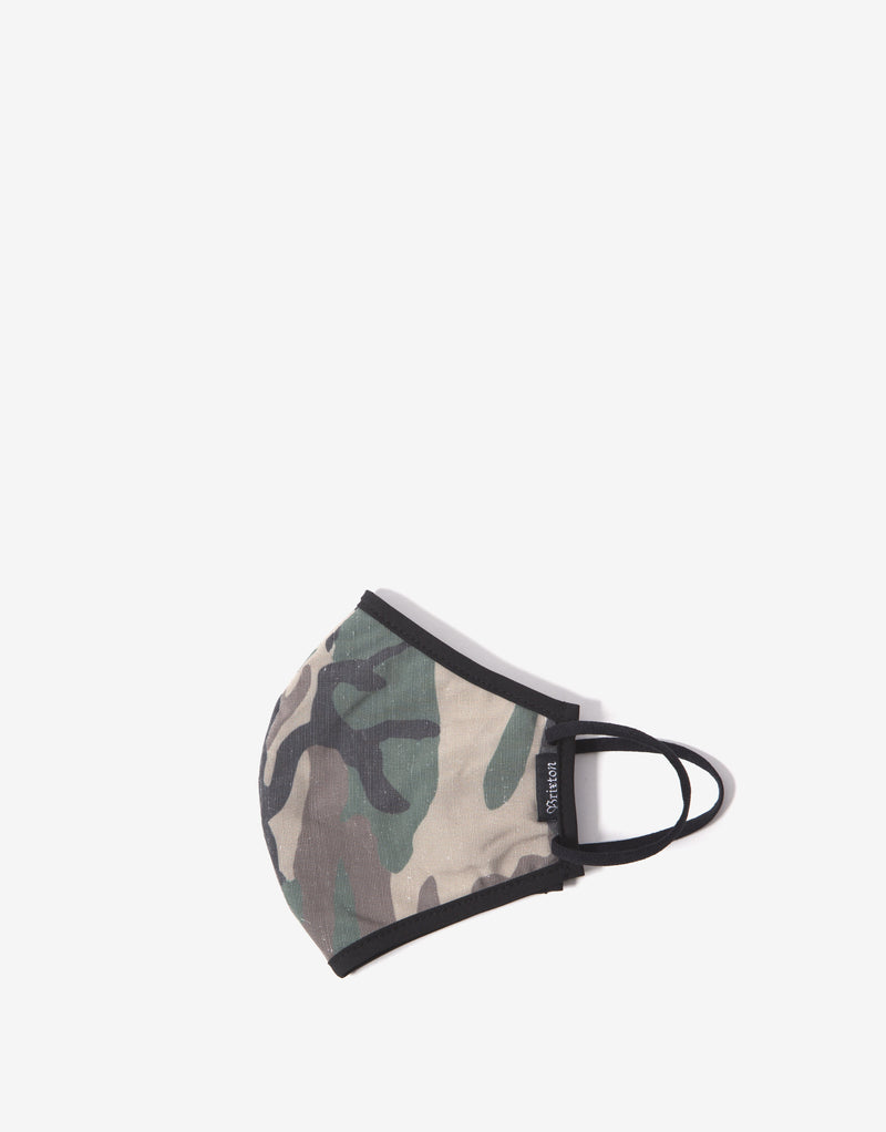 Brixton Antimicrobial Face Mask - Camo