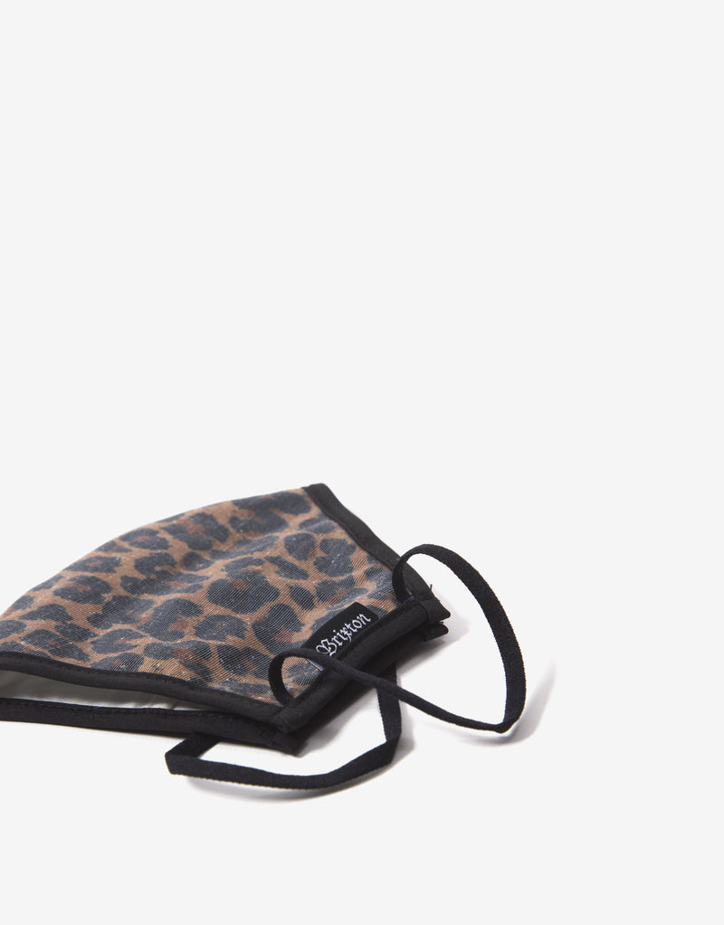 Brixton Antimicrobial Face Mask - Leopard
