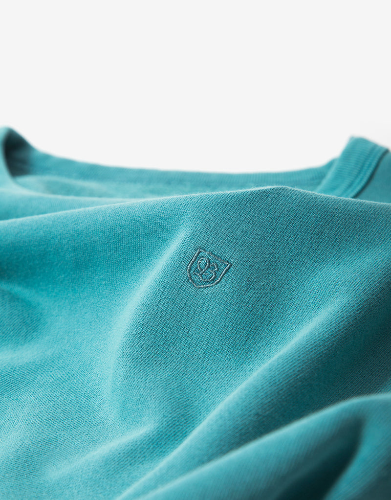 Brixton B-Shield French Terry Sweatshirt - Aqua