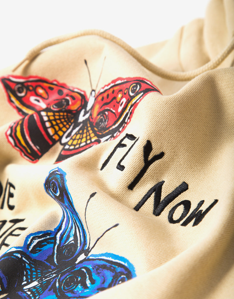 Brixton BB Fly Now Hoody - Gravel