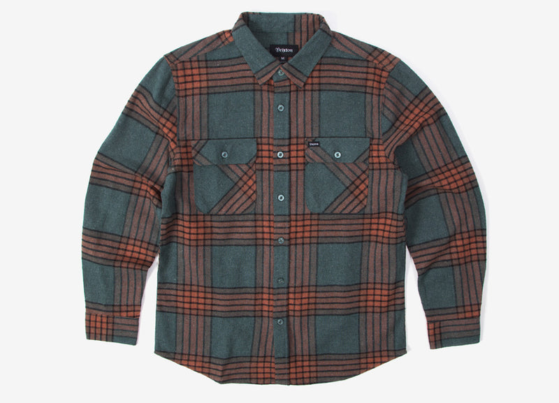 Brixton Bowery Flannel Shirt - Blue Haze
