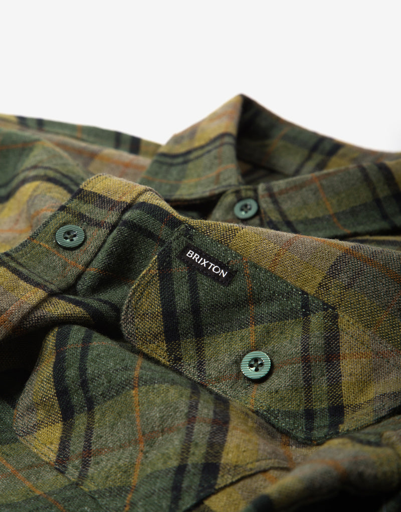 Brixton Bowery Flannel Shirt - Evergreen