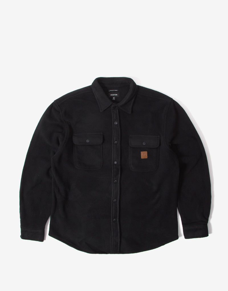 Brixton Bowery Fleece Flannel Shirt - Black